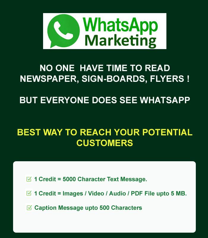 whatsapp marketing services