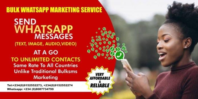 Bulk Whatsapp Marketing and Messaging in Nigeria